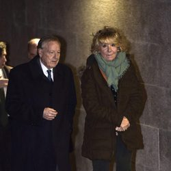 José María Álvarez del Manzano y Esperanza Aguirre en el tanatorio del padre de Cristina Cifuentes