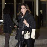 Ana Rosa Quintana en el tanatorio del padre de Cristina Cifuentes