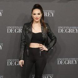 La Dama en el estreno de 'Cincuenta sombras de Grey' en Madrid