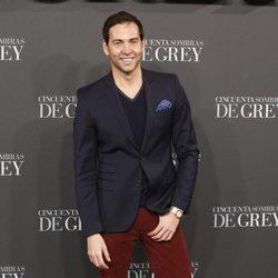 David Meca en el estreno de 'Cincuenta sombras de Grey' en Madrid