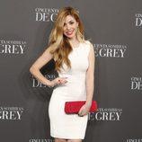 Natalia en el estreno de 'Cincuenta sombras de Grey' en Madrid