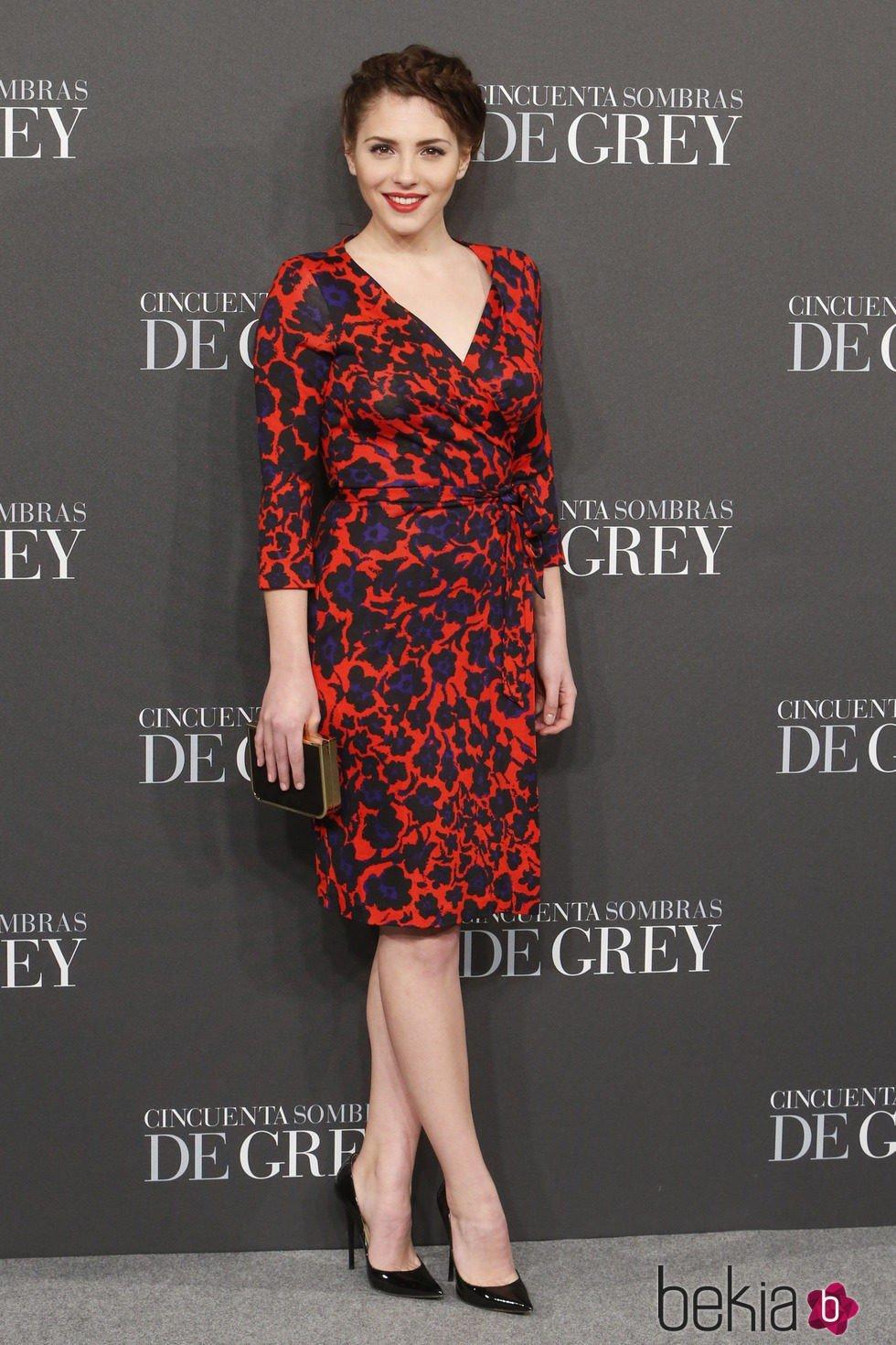 Andrea Duro en el estreno de 'Cincuenta sombras de Grey' en Madrid