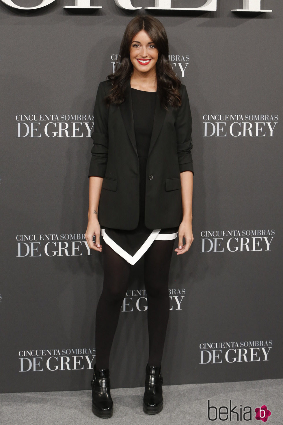 Noelia López en el estreno de 'Cincuenta sombras de Grey' en Madrid