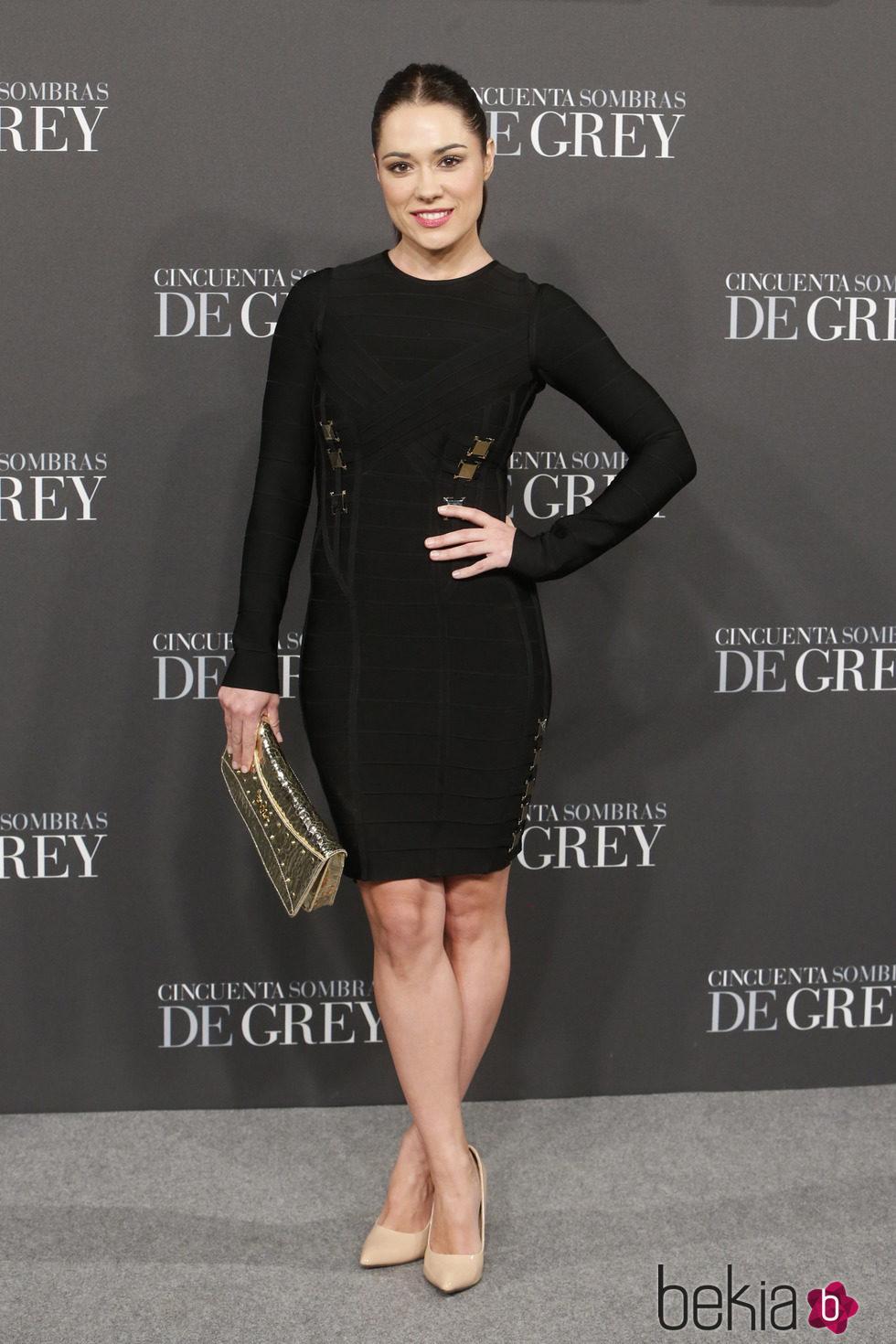 Eva Marciel en el estreno de 'Cincuenta sombras de Grey' en Madrid