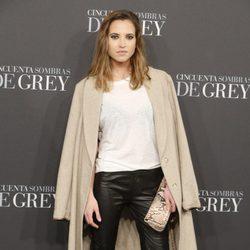 Ana Fernández en el estreno de 'Cincuenta sombras de Grey' en Madrid
