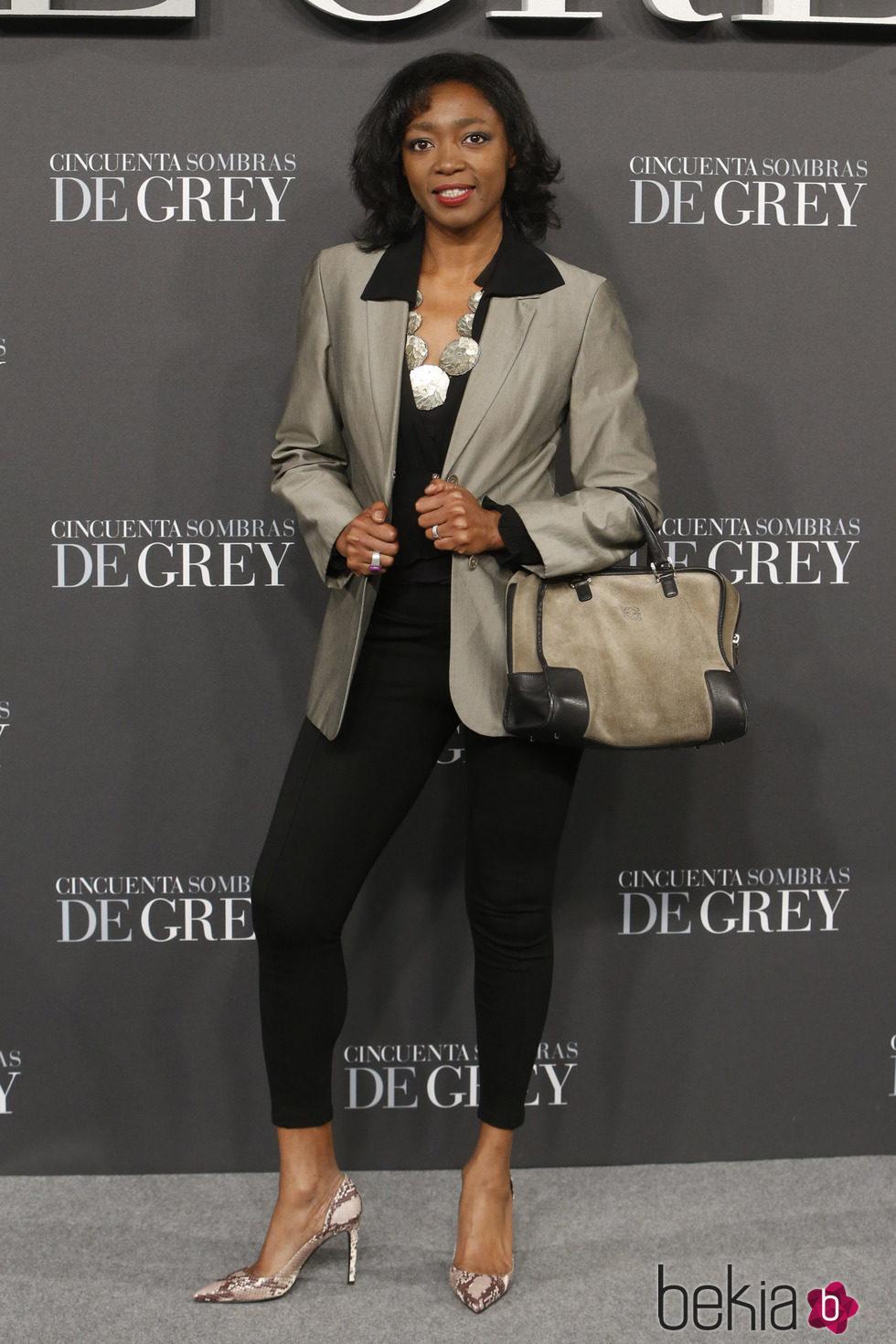 Francine Gálvez en el estreno de 'Cincuenta sombras de Grey' en Madrid