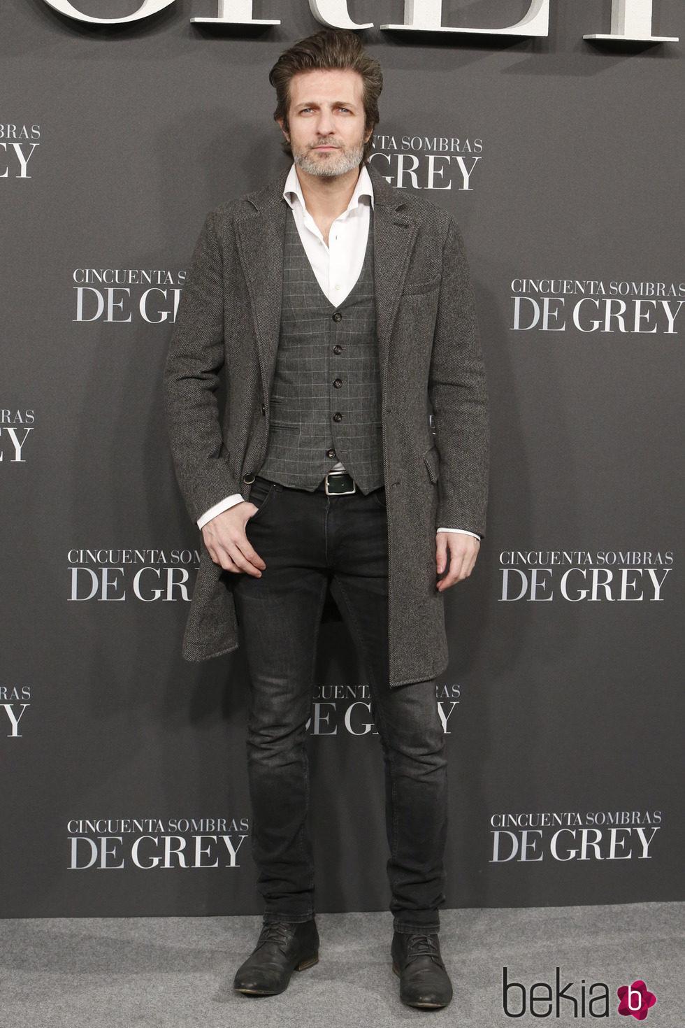 Jesús Olmedo en el estreno de 'Cincuenta sombras de Grey' en Madrid