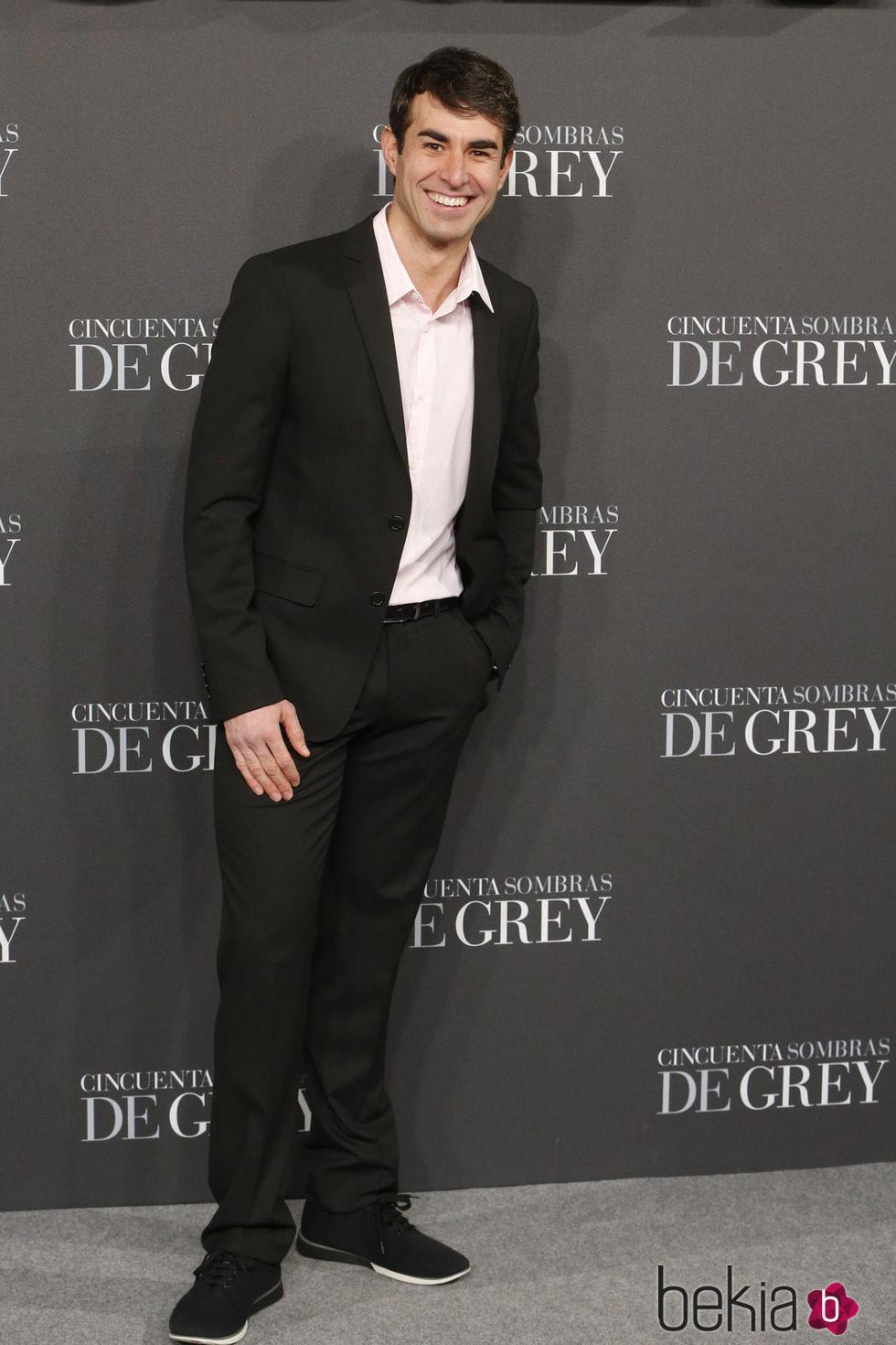 Daniel Muriel en el estreno de 'Cincuenta sombras de Grey' en Madrid