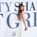 Dakota Johnson en el estreno de 'Cincuenta sombras de Grey' en Londres