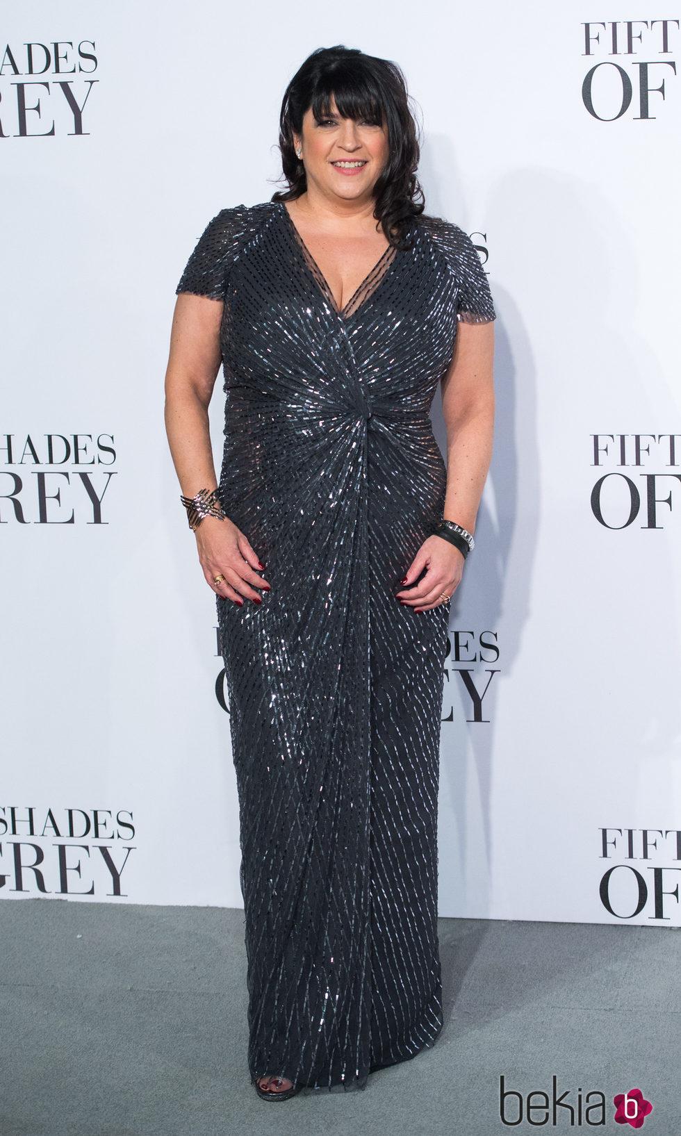E. L. James en el estreno de 'Cincuenta sombras de Grey' en Londres