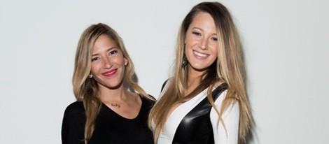 Blake Lively junto a la diseñadora Gabriela Cadena en la New York Fashion Week