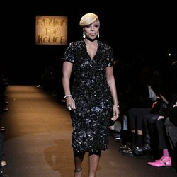 Mary J. Blige en el desfile Fashion for Relief de Nueva York