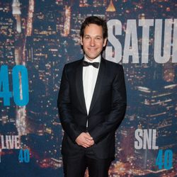 Paul Rudd en la fiesta del 40 aniversario de 'Saturday Night Live'