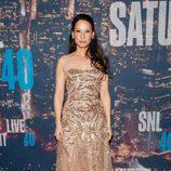 Lucy Liu en la fiesta del 40 aniversario de 'Saturday Night Live'