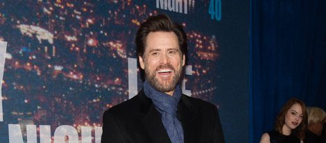 Jim Carrey en la fiesta del 40 aniversario de 'Saturday Night Live'