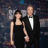 Alec Baldwin e Hilaria Thomas en la fiesta del 40 aniversario de 'Saturday Night Live'