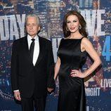 Michael Douglas y Catherine Zeta Jones en la fiesta del 40 aniversario de 'Saturday Night Live'
