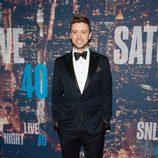 Justin Timberlake en la fiesta del 40 aniversario de 'Saturday Night Live'