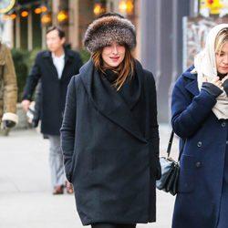 Dakota Johnson en Nueva York tras el estreno de 'Cincuenta sombras de Grey'
