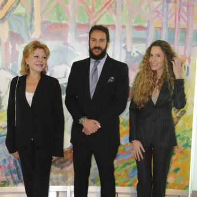 Tita Cervera, Borja Thyssen y Blanca Cuesta en la inauguración de la exposición de Raoul Dufy en el Museo Thyssen
