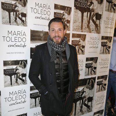Antonio David Flores en el concierto de María Toledo en Madrid