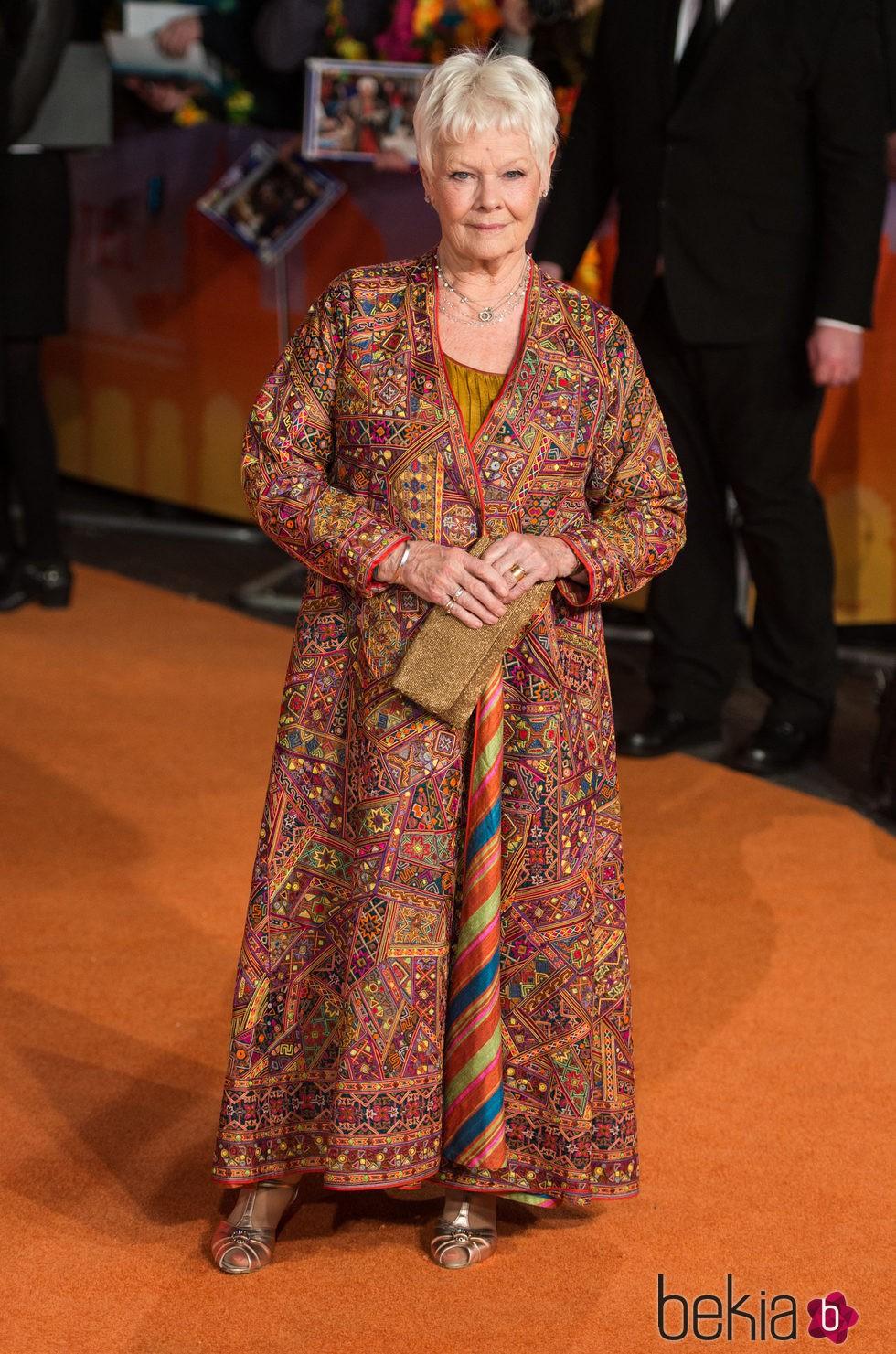 Judi Dench en el estreno de 'El nuevo exótico Hotel Marigold'