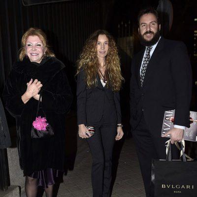 La Baronesa Thyssen, Borja Thyssen y Blanca Cuesta en la Embajada de Estados Unidos en Madrid
