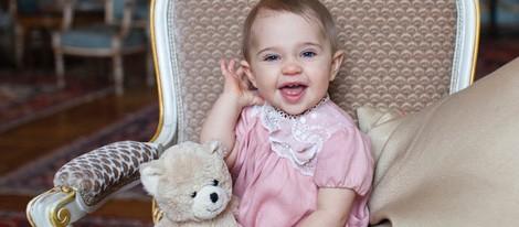 La Princesa Leonor de Suecia en su primer cumpleaños