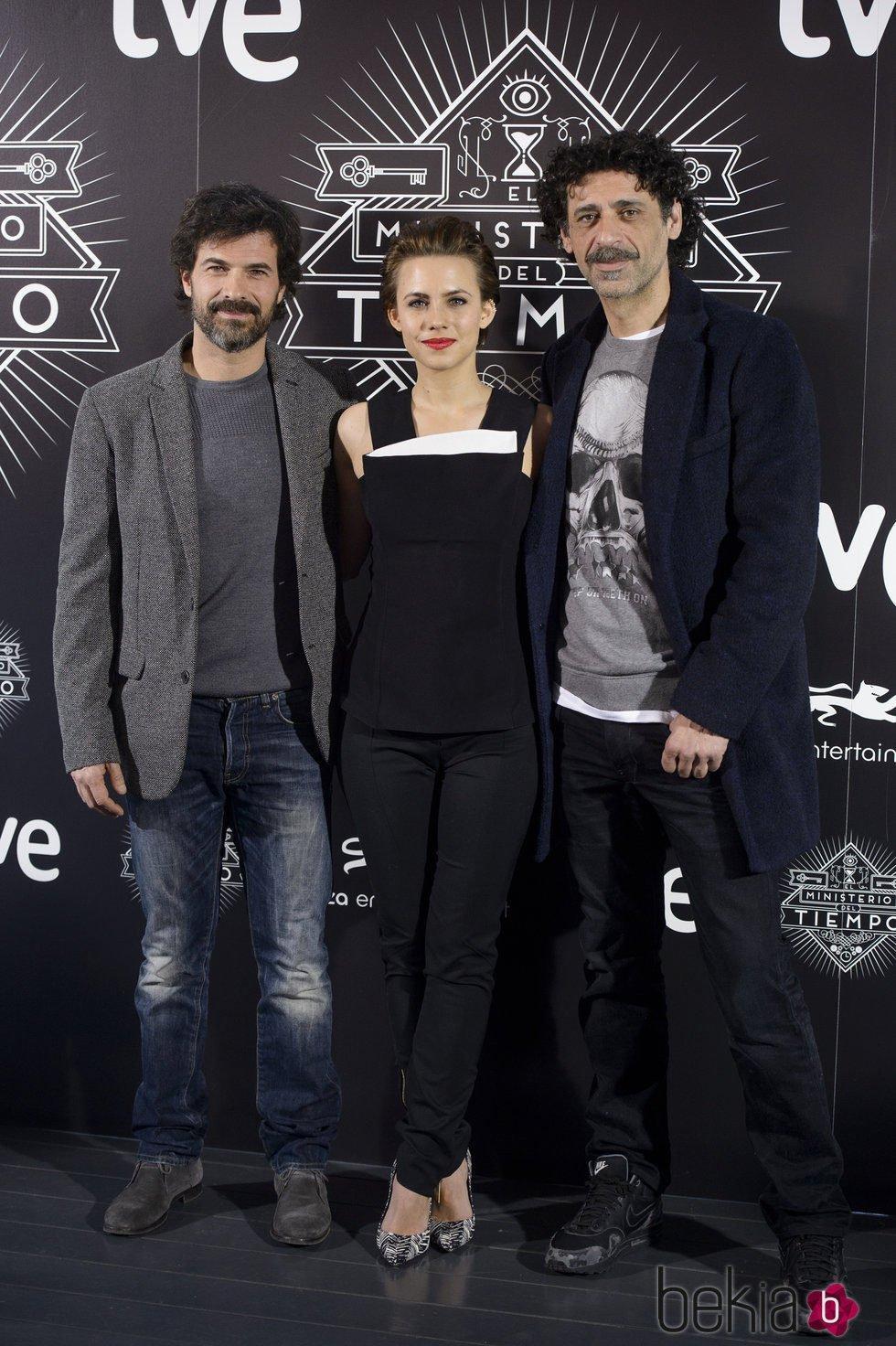 Rodolfo Sancho, Aura Garrido y Nacho Fresneda presentan 'El ministerio del tiempo'
