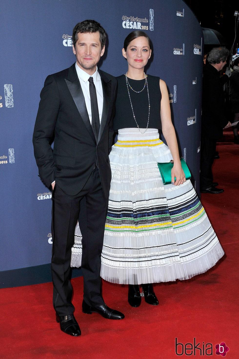 Guillaume Canet y Marion Cotillard en los César 2015