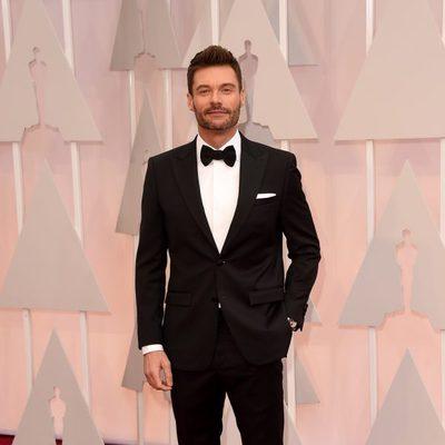 Ryan Seacrest en la alfombra roja de los premios Oscar 2015