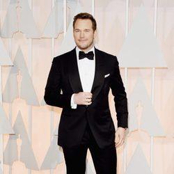 Chris Pratt en la alfombra roja de los premios Oscar 2015