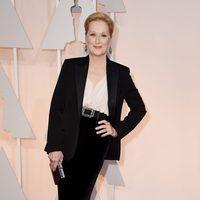 Meryl Streep en la alfombra roja de los premios Oscar 2015