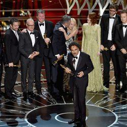 El equipo de 'Birdman' consigue el premio a la Mejor Película en los Oscar 2015