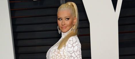 Christina Aguilera en la fiesta Vanity Fair tras los Oscar 2015