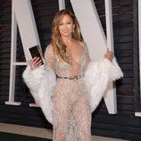 Jennifer Lopez en la fiesta Vanity Fair tras los Oscar 2015