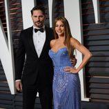 Sofía Vergara y Joe Manganiello en la fiesta Vanity Fair tras los Oscar 2015