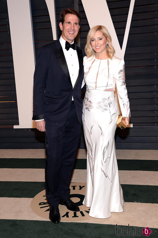 Pablo y Marie Chantal de Grecia en la fiesta Vanity Fair tras los Oscar 2015
