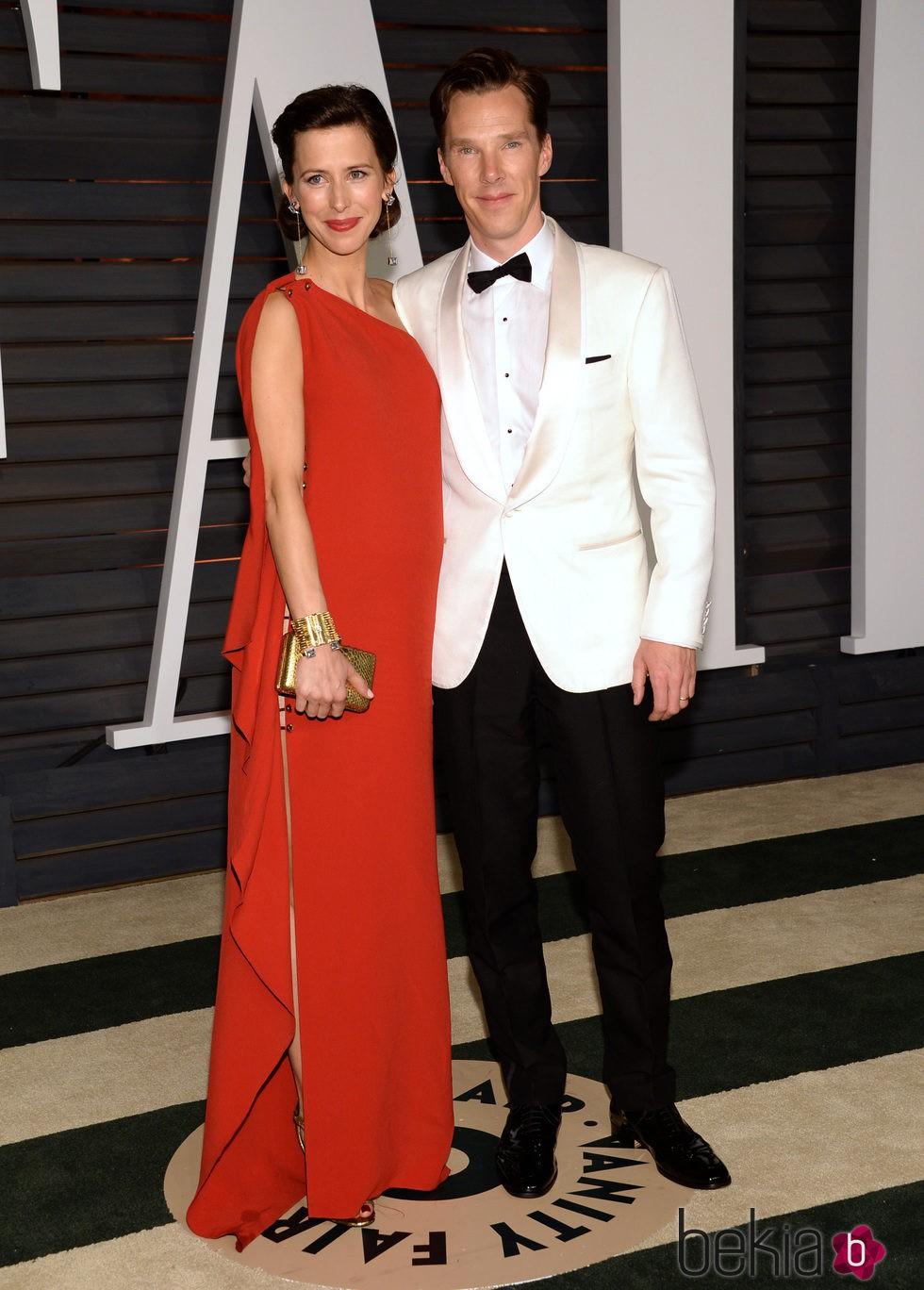 Benedict Cumberbatch y Sophie Hunter en la fiesta Vanity Fair tras los Oscar 2015
