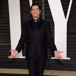 John Travolta en la fiesta Vanity Fair tras los Oscar 2015
