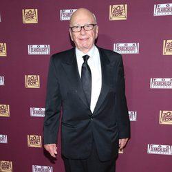 Rupert Murdoch en la fiesta de Fox tras los Oscar 2015