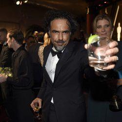 Alejandro González Iñárritu en la fiesta Governors Ball tras los Oscar 2015