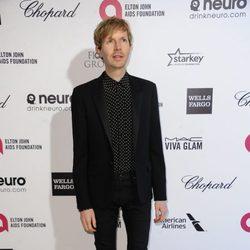 Beck en la fiesta de Elton John tras los Oscar 2015