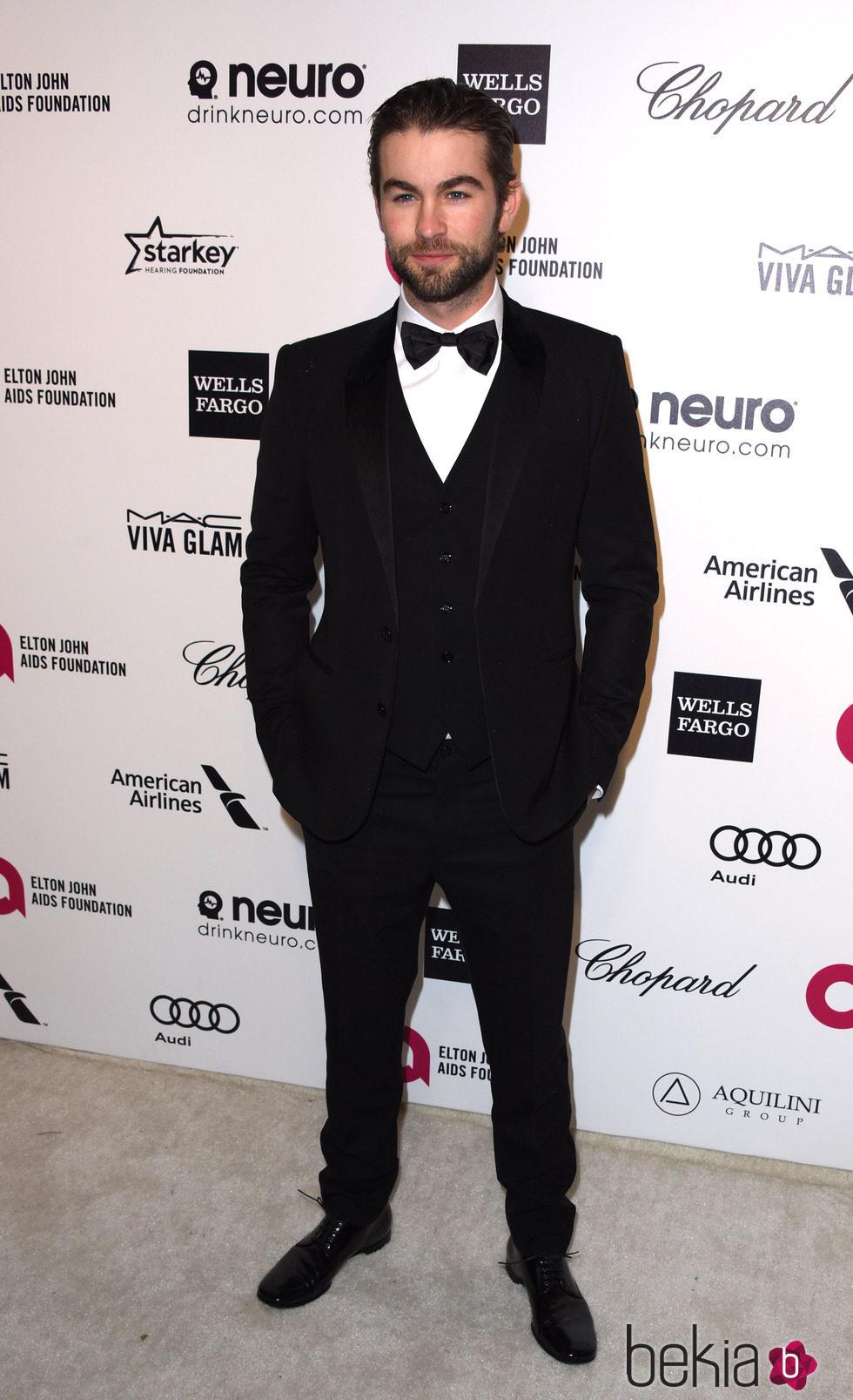 Chace Crawford en la fiesta de Elton John tras los Oscar 2015