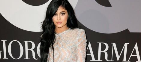 Kylie Jenner en la fiesta de los Grammy 2015 de GQ y Giorgio Armani