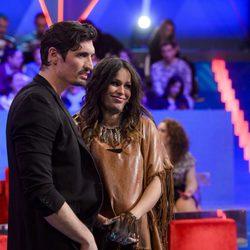Felipe López y Mireia Canalda en la gala de expulsión de Ares de 'Gran Hermano VIP'