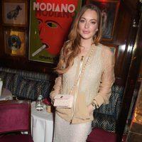 Lindsay Lohan en la fiesta ofrecida por Madonna tras la entrega de los Brit Awards 2015