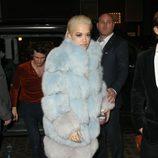 Rita Ora llegando a la fiesta ofrecida por Madonna tras la entrega de los Brit Awards 2015