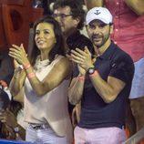 Eva Longoria y José Antonio Bastón en el Torneo de Tenis de Acapulco