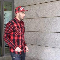 Karim Benzema saliendo de los Juzgados de Alcobendas